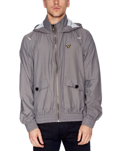 Le Breve System Zip Up Men's Jacket Grey Small