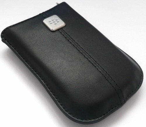 VIEW price of GENUINE BLACKBERRY 9300 CURVE 3G BLACK PURE LEATHER POCKET