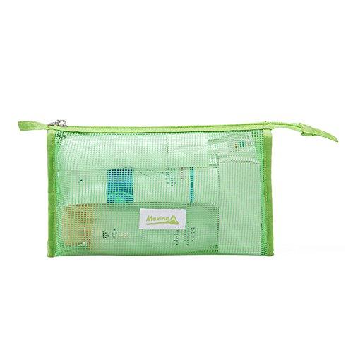 sac de lavage extérieur emballage / cosmétique d'admission-vert