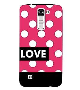 Love Dot Pattern 3D Hard Polycarbonate Designer Back Case Cover for LG K7 4G Dual