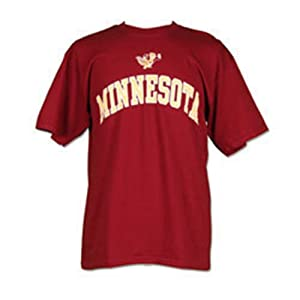 Buy Minnesota Golden Gophers Icon and Arch Short Sleeve T-shirt by Unknown