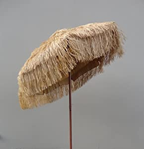 6 39 Hula Thatch Tilt Beach Patio Umbrella