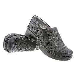 Klogs Unisex Naples Clogs Casual Clogs, Black Leather, 5 M