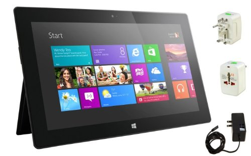 "New Original Microsoft Surface Tablet - Windows Rt 8, 10.6"" Hd Lcd Touchscreen, Front And Rear Camera Office 2013 Rt Included (A 64Gb Bundle)"