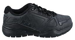 Fila Side-By-Side Wide Cross Training Shoe (Little Kid/Big Kid), Black/Black/Black, 6 W US Big Kid
