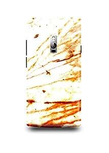 White & Orange Marble Oneplus Two Case