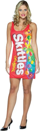 Rasta Imposta Womens Skittles Tank Dress Adult Costume
