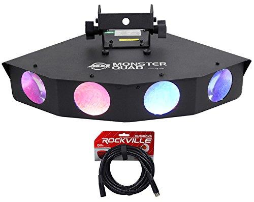American DJ ADJ Monster Quad RGBWA LED DMX Moonflower FX Light w/Quad Lens+Cable (Monster Quad compare prices)