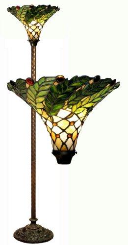 Warehouse of Tiffany's 3742+BB75B Green Leafy 60-Watt 67-Inch Torchiere Lamp