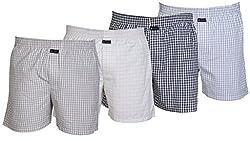 Careus Men's Cotton Boxers (Pack of 4)(13_14_15_17_Multi-coloured_Medium)