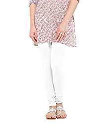 Lard Women's Cotton Leggings (Lard11_White_Free size)