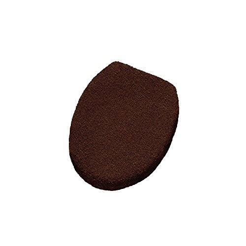 Elongated Lid Rug Cover with a Draw String - Toilet Seat Cover - (W) 18.5in X (L) 19.7in - Nut Brown (Elongated Toilet Lid Cover Brown compare prices)