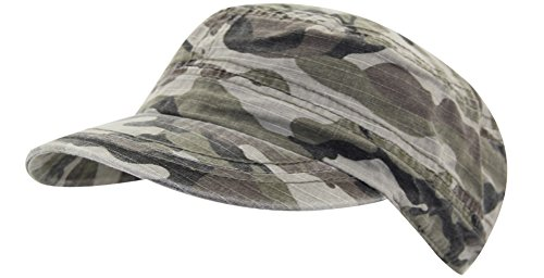 100% Cotton Classic Men Army Cap Military Camp Sun Snapback Adjustable Casual Sports Everyday Hat (4640armygreen)