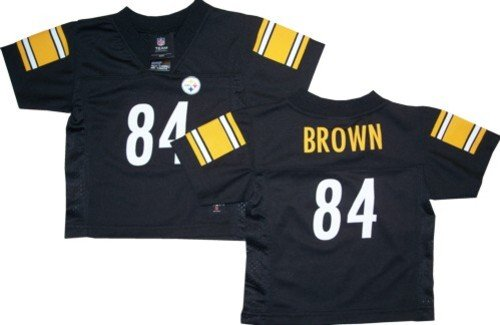 Antonio Brown Steelers Boys NFL Players Black Team Apparel Jersey With Knit Trim - XL... by Pittsburgh Steelers