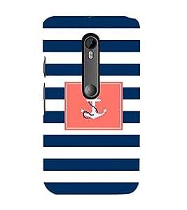 EPICCASE Navy Mobile Back Case Cover For Moto G Turbo (Designer Case)