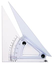 Alvin 12-Inch Computing Trig-Scale Adjustable Triangle (LX712K)