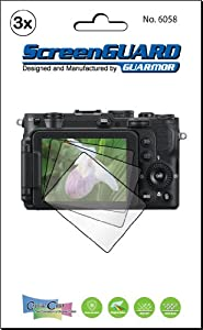 3x Nikon Coolpix P7700 Premium Clear LCD Screen Protector Cover Guard Shield Protective Film Kit (Package by GUARMOR)