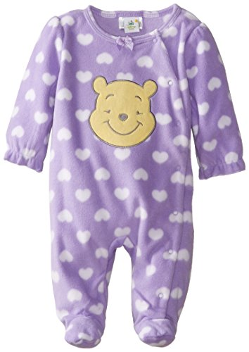Disney Baby Baby-Girl Pooh Microfleece Sleep And Play, Spring Lilac, 0/3 Months front-369817
