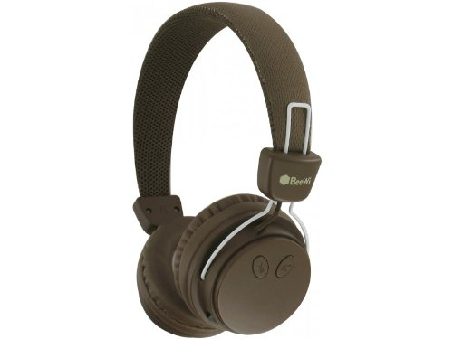 Casque BeeWi BBH120 Marron - Bluetooth et filaire - Nomade