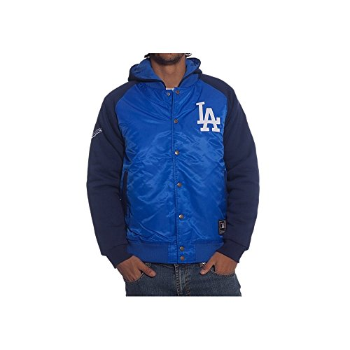 MAJESTIC GIACCA BOMBER BRISK HOODED MLB Los Angeles Dodgers BLU-L