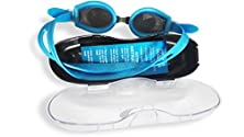 buy Anti Fog Swimming Goggles Mirror Coated For Men And Women 100% Uv Protection Comfort Fit Anti Shatter With Adjustable Silicone Frame & Strap With Free Protective Case