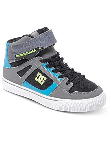 DC ShoesSpartan High Ev - Espadrilla primi passi Ragazzo , Grigio (black/armor/turquoise/gris), 13k / 30,5