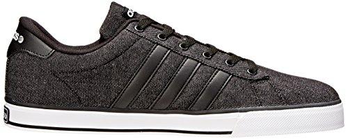 Adidas NEO Men's SE Daily Vulc Lifestyle Skateboarding Shoe,Black/Black/White,13 M US