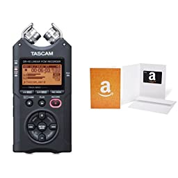 TASCAM DR-40 Channel Portable Digital Recorder With $25 Gift Card Bundle