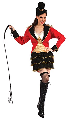 Adults Womens Ladies Circus Ring Master Mistress Fancy Dress Costume Outfit