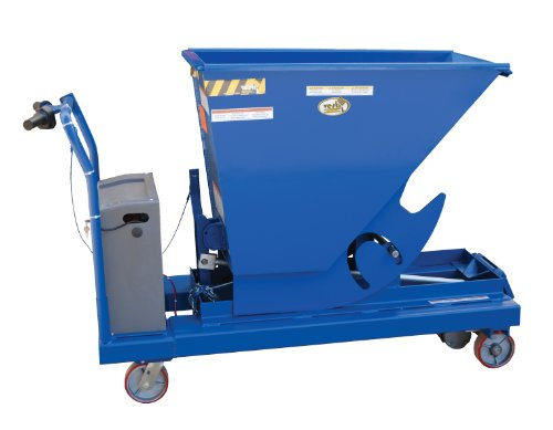 Vestil Hop-Ptd Portable Hopper With Power Traction Drive, Steel, 1500 Lb. Capacity, 44-1/4 X 26 X 54 Inches (H X W X D)
