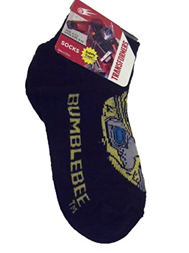 Transformers Prime Bumblebee Sz 1-5 Black Boy Toddler Socks - 1