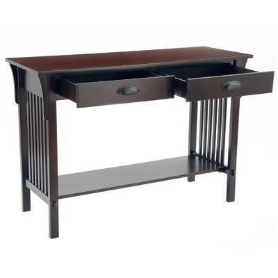 Cheap Bay Shore Collection Mission Sofa/Console Table, Espresso (F68414-02)