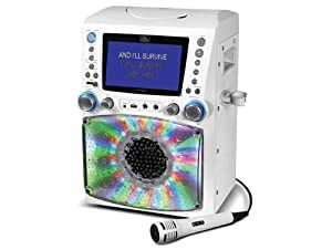 "STVG785W Karaoke Machine with Disco Lights and 7"" TFT LCD Monitor by Singing Machine"