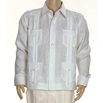 Boys linen guayabera shirt in light blue. Final sale