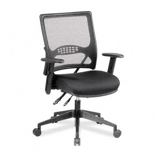 SPACE Products - SPACE - Air Grid Manager's Chair with Dual Function, 19-1/2 x 19 x 42-1/2 - Sold As 1 Each - Built-in lumbar support helps reduce back pain. - Three levels modify angle of back, tilt, and forward tilt for comfort. - Wheels are specially d