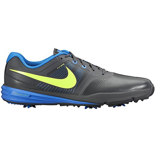 Nike Golf Men's Lunar Command Golf Shoes Wide White/ Lyon Blue/Black (10.5)