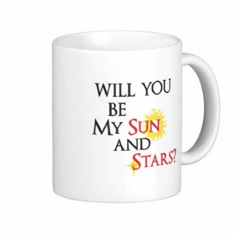 Pair Of 11 Ounce Will You Be My Sun And Stars Game Of Thrones Coffee Mugs - Dishwasher And Microwave Safe