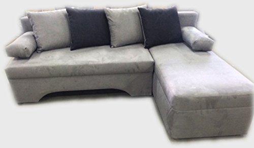 Best Price Vica / Olivia Corner Sofa Bed Grey/Black Fabric ...