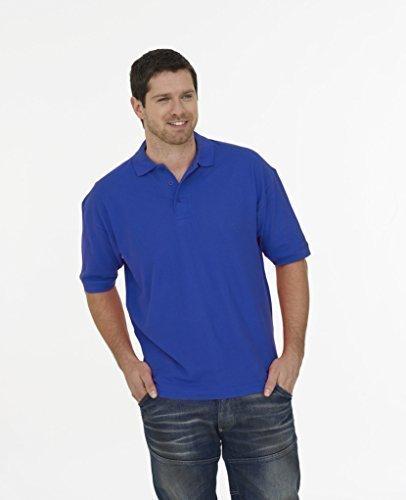 100% cotone Polo Maniche Corte Tempo Libero Lavoro Workwear uniforme Royal XL
