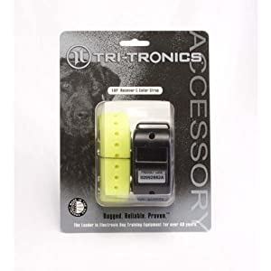 Tri-Tronics Expandable Receiver with Yellow Collar Strap by Tri-Tronics