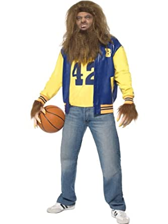 MEN'S WEREWOLF TEEN WOLF 80S LICENSED COSTUME HALLOWEEN FANCY COMPLETE OUTFIT#LARGE