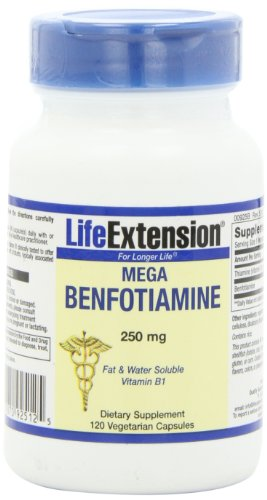Life Extension Mega BENFOTIAMINE capsule, 250 mg,