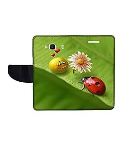 KolorEdge Printed Flip Cover For Xiaomi Redmi 2 Multicolor - (1477-47KeMLogo09241Redmi2)