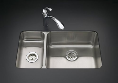 k KOHLER K 3174 L NA Undertone High Low Undercounter Kitchen Sink Special D