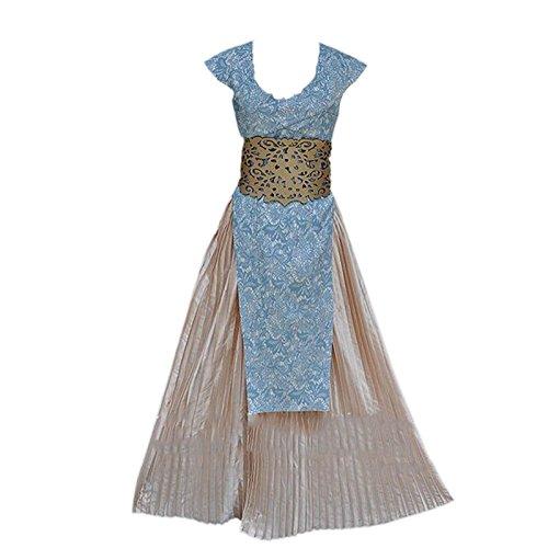 ETASSO Damen Game of Thrones Daenerys Targaryen Mother of Dragons Kleid Abend Kleidung Cosplay Kostüme