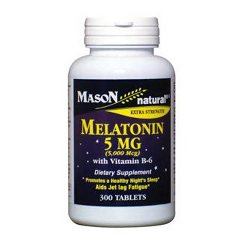 Mason Natural Melatonin 5 mg avec vitamine B-6