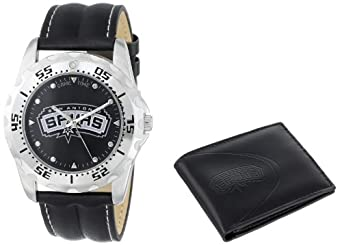 Game Time Unisex NBA-WWS-SA Wallet and San Antonio Spurs NBA Watch Set by Game Time