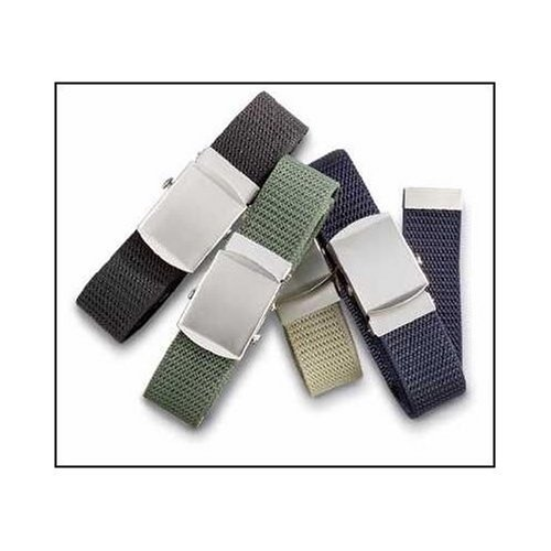 CANVAS ADJUSTABLE MILITARY WEB BELTS (White)