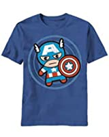 T-Shirt - Marvel Kawaii - Cap in Circle (Slim Fit)