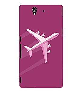 Aeroplane Clipart 3D Hard Polycarbonate Designer Back Case Cover for Sony Xperia Z :: Sony Xperia Z L36h